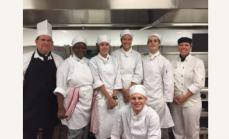 Back row: Chef David, Jariah, McKenzie, Kaitlyn, Tiger, Tanya (YWNT) Front: Joseph