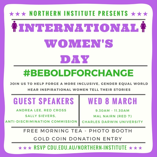 International Women's Day Northern Institute