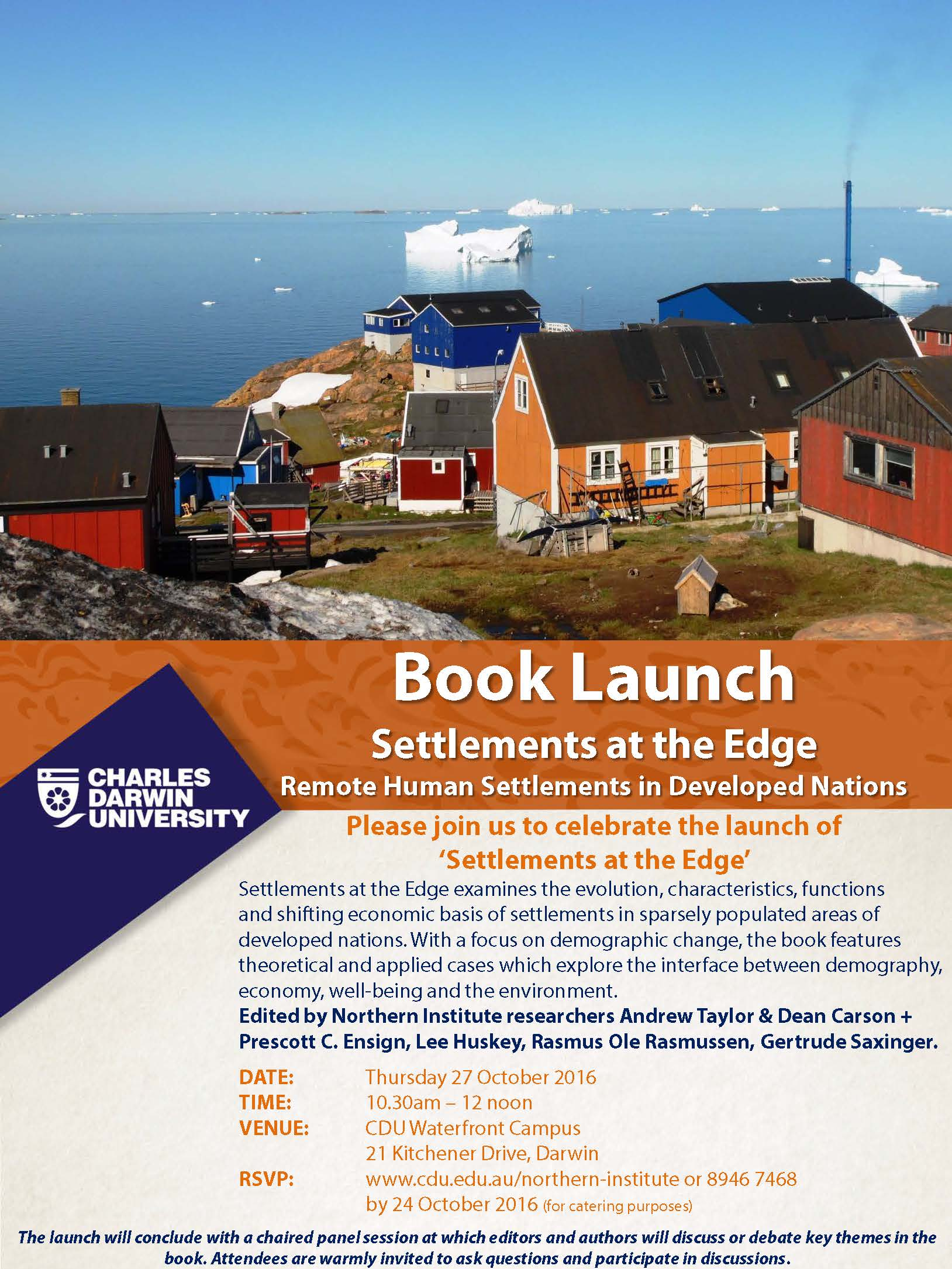 Settlements at the Edge, 27 October