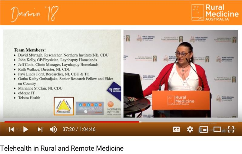 Telehealth in rural and remote medicine