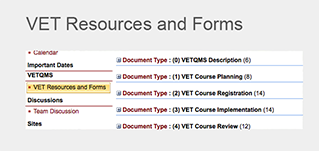 VET Resources and Forms